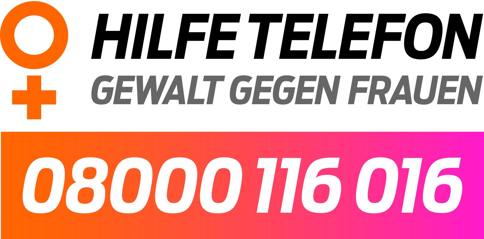 BFZ Logo Hilfetelefon 2018 auf weiss 4c